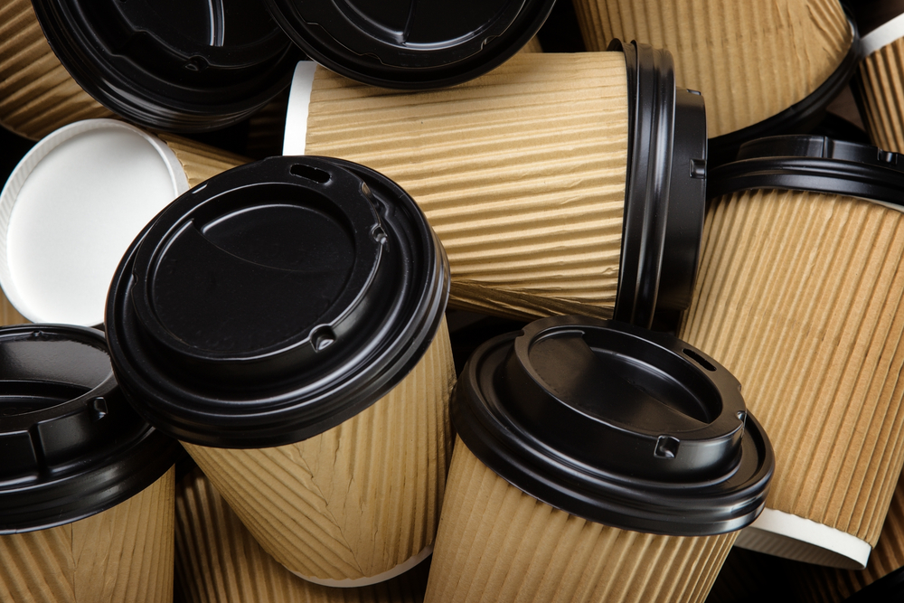 """latte levy"" for disposable coffee cups"