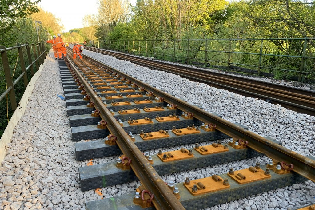 First recycled plastic sleepers laid by Network Rail on main line